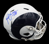 Marshall Faulk Signed Rams Full-Size AMP Alternate Speed Helmet (Radtke COA) at PristineAuction.com