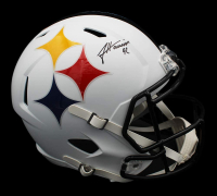 James Harrison Signed Steelers Full-Size AMP Alternate Speed Helmet (Radtke COA) at PristineAuction.com