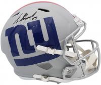 Sterling Shepard Signed Giants Full-Size AMP Alternate Speed Helmet (Radtke COA) at PristineAuction.com