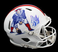 Corey Dillon Signed Patriots Full-Size Authentic On-Field Speed Helmet (Radtke COA) at PristineAuction.com