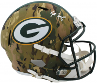 Brett Favre Signed Packers Full-Size Camo Alternate Speed Helmet (Radtke COA) at PristineAuction.com