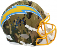 Keenan Allen Signed Chargers Full-Size Authentic On-Field Camo Alternate Speed Helmet (Radtke COA) at PristineAuction.com