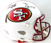 Joe Montana & Jerry Rice Signed 49ers Full-Size Authentic On-Field Matte White Speed Helmet (Beckett COA) at PristineAuction.com