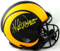 "Kurt Warner Signed Rams Full-Size Authentic On-Field Eclipse Alternate Speed Helmet Inscribed ""SB XXXIV MVP""  (Beckett COA) at PristineAuction.com"