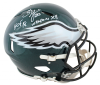 "Brian Dawkins Signed Eagles Full-Size Authentic On-Field Speed Helmet Inscribed ""HOF 18"" & ""Weapon X!!"" (JSA COA) at PristineAuction.com"