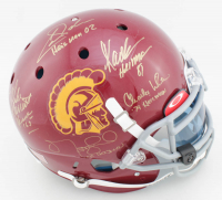 USC Trojans Full-Size Authentic On-Field Helmet with Visor Signed by (5) with Mike Garrett, Marcus Allen, Charles White, Carson Palmer with Multiple Inscriptions (Radtke Hologram) at PristineAuction.com