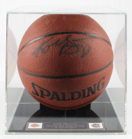 Kobe Bryant Signed NBA Basketball With Display Case (PSA Hologram) at PristineAuction.com