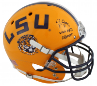 "Justin Jefferson Signed LSU Tigers Full-Size Helmet Inscribed ""2020 Nat'l Champs"" (Beckett COA) at PristineAuction.com"