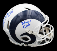 """Eric Dickerson Signed Rams Full-Size Authentic On-Field Matte White Speed Helmet Inscribed """"2k Yds Club"""" (Radtke COA) at PristineAuction.com"""
