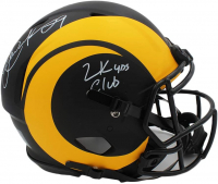 "Eric Dickerson Signed Rams Full-Size Authentic On-Field Eclipse Alternate Speed Helmet Inscribed ""2k Yds Club"" (Radtke COA) at PristineAuction.com"