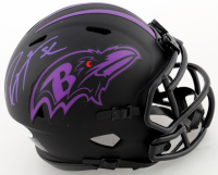 Ray Lewis Signed Ravens Eclipse Alternate Speed Mini-Helmet (Beckett COA) at PristineAuction.com