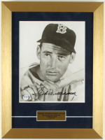 Ted Williams Signed Vintage Red SoxIssued 12x16 Custom Framed Photo Display (PSA LOA) at PristineAuction.com