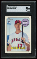 Shohei Ohtani 2018 Topps Heritage #600 RC (SGC 9) at PristineAuction.com