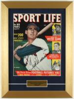 Ted Williams Signed Red Sox 12x16 Custom Original 1948 Sport Life Magazine Cover Display (PSA LOA) at PristineAuction.com