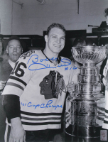 """Bobby Hull Signed Blackhawks 11x14 Photo Inscribed """"'61 Cup Champs"""" (Hull Hologram) at PristineAuction.com"""
