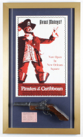 "Disneyland ""Pirates of the Caribbean"" 16x27 Custom Framed Print with Vintage E-Ride  & Vintage Souvenir Pistol at PristineAuction.com"