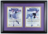 Randy Johnson & Curt Schilling Signed Diamondbacks 17.5x24.5 Custom Framed Photo Display (JSA COA) at PristineAuction.com