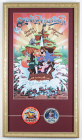 """Disneyland """"Splash Mountain"""" 15x26 Custom Framed Poster Display with Tokyo Disneyland Cast Member Lapel Pin and Decal at PristineAuction.com"""