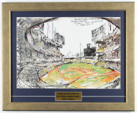 "LeRoy Neiman ""Sandy Koufax vs. Mickey Mantle"" 19x22.5 Custom Framed Print Display at PristineAuction.com"