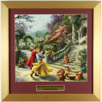 "Thomas Kinkade ""Snow White and the Seven Dwarfs"" 16x16 Custom Framed Print Display at PristineAuction.com"