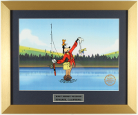 "Walt Disney's LE ""How to Fish"" 15x18 Custom Framed Animation Cel Display at PristineAuction.com"