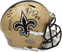 """Demario Davis Signed Saints Full-Size Authentic On-Field Speed Helmet Inscribed """"A Man of God"""" (Radtke COA) at PristineAuction.com"""