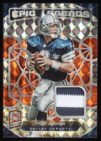 Troy Aikman 2020 Panini Spectra Epic Legends Materials Neon Orange #5 at PristineAuction.com