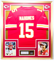 Patrick Mahomes Chiefs 32x36 Custom Framed Jersey Display With Super Bowl LIV Champions Pin at PristineAuction.com