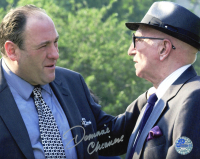 """Dominic Chianese Signed """"The Sopranos"""" 8x10 Photo (Pro Player Hologram) at PristineAuction.com"""