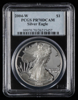 2004-W American Silver Eagle $1 One-Dollar Coin (PCGS PR70 Deep Cameo) at PristineAuction.com