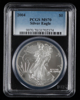 2004 American Silver Eagle $1 One-Dollar Coin (PCGS MS70) at PristineAuction.com