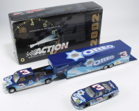 Dale Earnhardt Jr. Signed LE #3 Oreo / Ritz 2002 Chevrolet Monte Carlo 1:24 Scale Die Cast Show Trailer & Car Collection (JSA COA) at PristineAuction.com