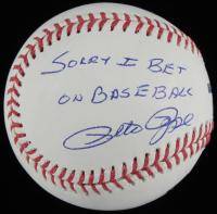 "Pete Rose Signed OML Baseball Inscribed ""Sorry I Bet On Baseball"" (JSA Hologram) at PristineAuction.com"