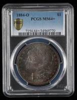 1884-O Morgan Silver Dollar (PCGS MS64+) at PristineAuction.com