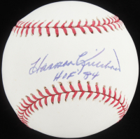 "Harmon Killebrew Signed OML Baseball Inscribed ""HOF 84"" (PSA COA) at PristineAuction.com"