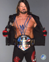 A. J. Styles Signed WWE 8x10 Photo (Pro Player Hologram) at PristineAuction.com