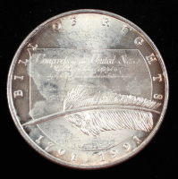 1991 Bill Of Rights 200th Anniversary 1 Troy Ounce .999 Fine Silver Bullion Round at PristineAuction.com
