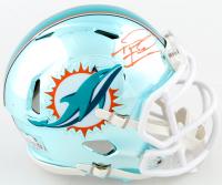 Tua Tagovailoa Signed Dolphins Chrome Speed Mini Helmet (Fanatics Hologram) at PristineAuction.com