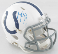 Marvin Harrison Signed Colts Speed Mini Helmet (JSA COA) at PristineAuction.com