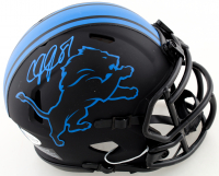 Calvin Johnson Signed Lions Eclipse Alternate Speed Mini Helmet (Beckett COA) at PristineAuction.com
