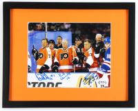 Bobby Orr, Bobby Clarke & Reggie Leach Signed Flyers 12x15 Custom Framed Photo (PSA LOA) at PristineAuction.com