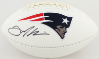 Julian Edelman Signed Patriots Logo Football (Steiner Hologram) at PristineAuction.com