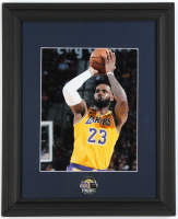 Lebron James Lakers 13x16.5 Custom Framed Photo Display with 2020 NBA Finals Offical Pin at PristineAuction.com