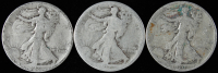 Lot of (3) Walking Liberty Silver Half Dollars with (2) 1917, & 1920-S at PristineAuction.com