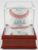 Baseball Signed by (4) With George W. Bush, Bob Feller, Tommy John & Bud Selig With Display Case (PSA LOA) at PristineAuction.com