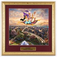 "Thomas Kinkade ""Aladdin"" 15.5x15.5 Custom Framed Print Display at PristineAuction.com"