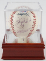 2001 Yankees vs. Red Sox OML Baseball Team-Signed by (10) With Derek Jeter, Andy Pettite, Nick Johnson, Bobby Murcer With Display Case (PSA LOA) at PristineAuction.com