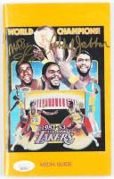 Magic Johnson & Kareem Abdul-Jabbar Signed Vintage 1982-83 Lakers Media Guide (JSA Hologram) at PristineAuction.com