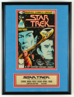 "William Shatner & Leonard Nimoy Signed LE 1980 ""Star Trek"" Issue #1 12x16x1.5 Custom Framed Comic Display (Beckett LOA) at PristineAuction.com"