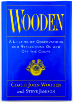 """John Wooden Signed """"Wooden"""" Hardcover Book Inscribed """"Best Wishes"""" (PSA COA) at PristineAuction.com"""
